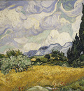 van gogh vincent wheat field with cypresses