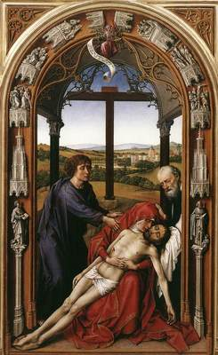 Weyden Miraflores Altarpiece central panel