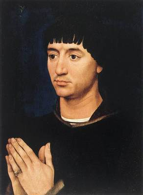 Weyden Portrait Diptych of Jean de Gros right wing