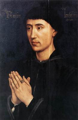Weyden Portrait Diptych of Laurent Froimont right wing
