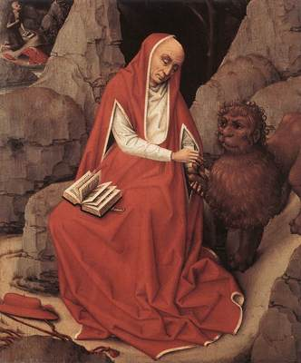 Weyden St Jerome and the Lion c1450