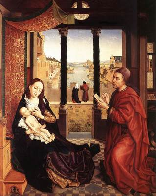 Weyden St Luke Drawing a Portrait of the Madonna c1450