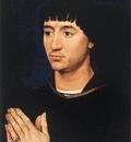 Weyden Portrait Diptych of Jean de Gros right wing