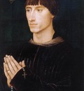 Weyden Portrait Diptych of Philippe de Croy right wing