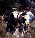 Zugel Heinrich Von Two Harnessed Calves