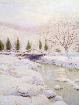 Palmer Walter Launt The Bridge Winter