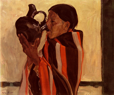 Ufer Walter Taos Indian Drinking