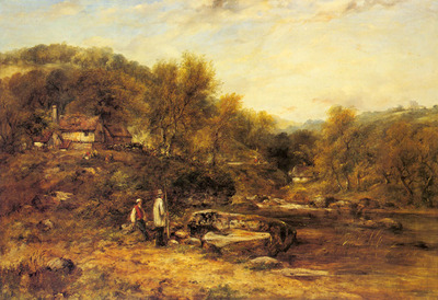 Watts Frederick William Anglers By A Stream