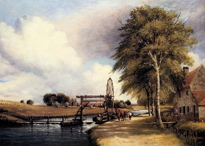 Watts Frederick William The Lock At Santon On The Little Ouse In Norfolk
