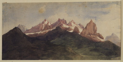 Watts George Frederick Alpine landscape