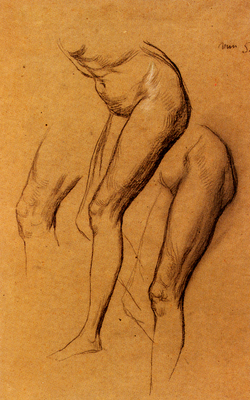 Watts George Frederick Nude Studies Of Long Mary Two Being Studies For Eve