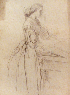 Watts George Frederick Portrait Of A Lady Possibly Julia Jackson