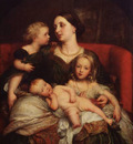 Watts George Frederick Mrs George Augustus Frederick Cavendish Bentinck and her Children
