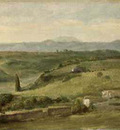 Watts George Frederick Panoramic Landscape with a Farmhouse
