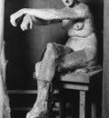 Watts George Frederick Seated Female Nude