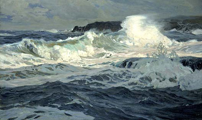 Waugh Frederick Judd Southwesterly Gale St  Ives