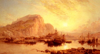 Webb James View Of Dinant Belgium