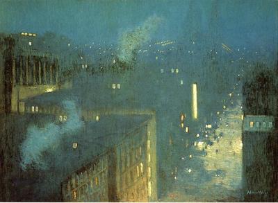 Weir Julian Alden The Bridge Nocturne aka Nocturne Queensboro Bridge
