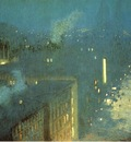 Weir Julian Alden The Bridge Nocturne aka Nocturne Queensboro Bridge