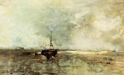 Weissenbruch Jan Hendrik A Bomschuit On The Beach