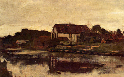 Weissenbruch Jan Hendrik A Farm On The Waterfront