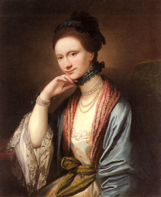 West Benjamin Portrait Of Ann Barbara Hill Medlycott