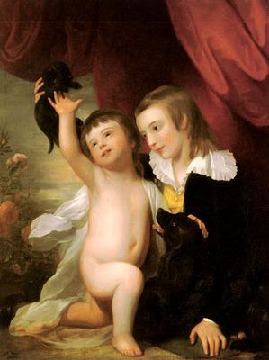 West Benjamin Portrait Of Raphael West And Benjamin West Jr