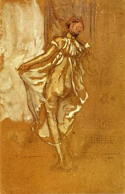 Whistler A Dancing Woman in a Pink Robe Seen from the Back