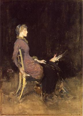 Whistler Black and Red aka Study in Black and Gold Madge O Donoghue