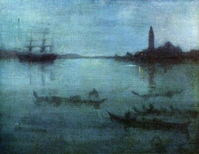 Whistler Blue and Silver Nocturne in Blue and Silver The Lagoon Venice