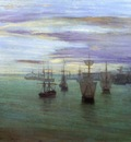 Whistler Crepuscule in Flesh Colour and Green Valparaiso