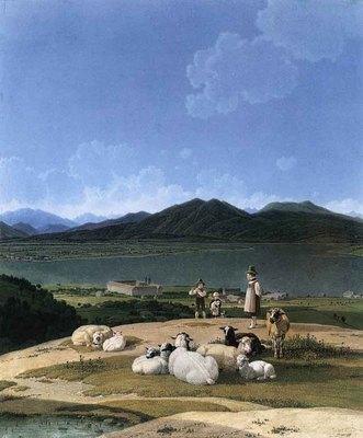 KOBELL Wilhelm von View Of Lake Tegern