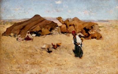 Metcalf Willard Leroy Arab Encampment Biskra