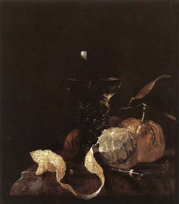 KALF Willem Still Life With Lemon Oranges And Glass Of Wine