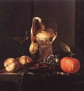 KALF Willem Still Life With Silver Bowl Glasses And Fruit