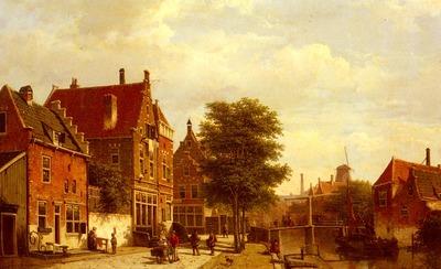 Koekkoek Willem Along The Canal