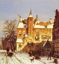Koekkoek Willem A Dutch Village In Winter