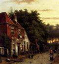 Koekkoek Willem Figures In A Dutch Street