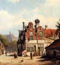 Koekkoek Willem Houses Along A Village Street In Summer