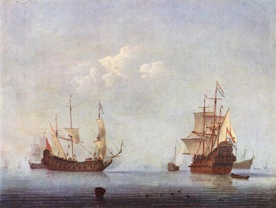 velde willem van de the younger marine landscape