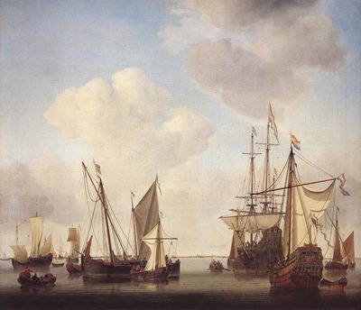 VELDE Willem van de the Younger Warships At Amsterdam