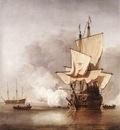 VELDE Willem van de the Younger The cannon Shot