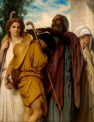 bouguereau william tobias saying goodbye to his father