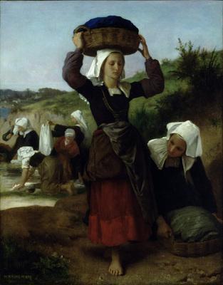 bouguereau william washerwomen of fouesnant