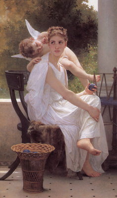 Bouguereau Work Interrupted