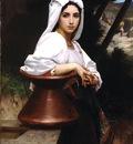 Jeune italienne puisant de leau