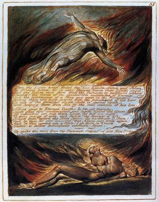 BLAKE William The Descent Of Christ