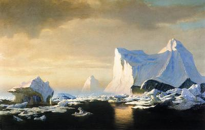 bradford william icebergs in the arctic william bradford