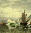 Bradford William Arctic Whaler Homeward Bound Among the Icebergs