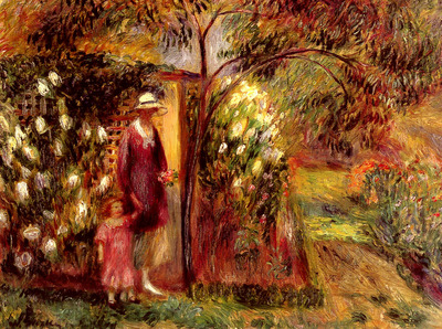 Glackens William J Two In A Garden